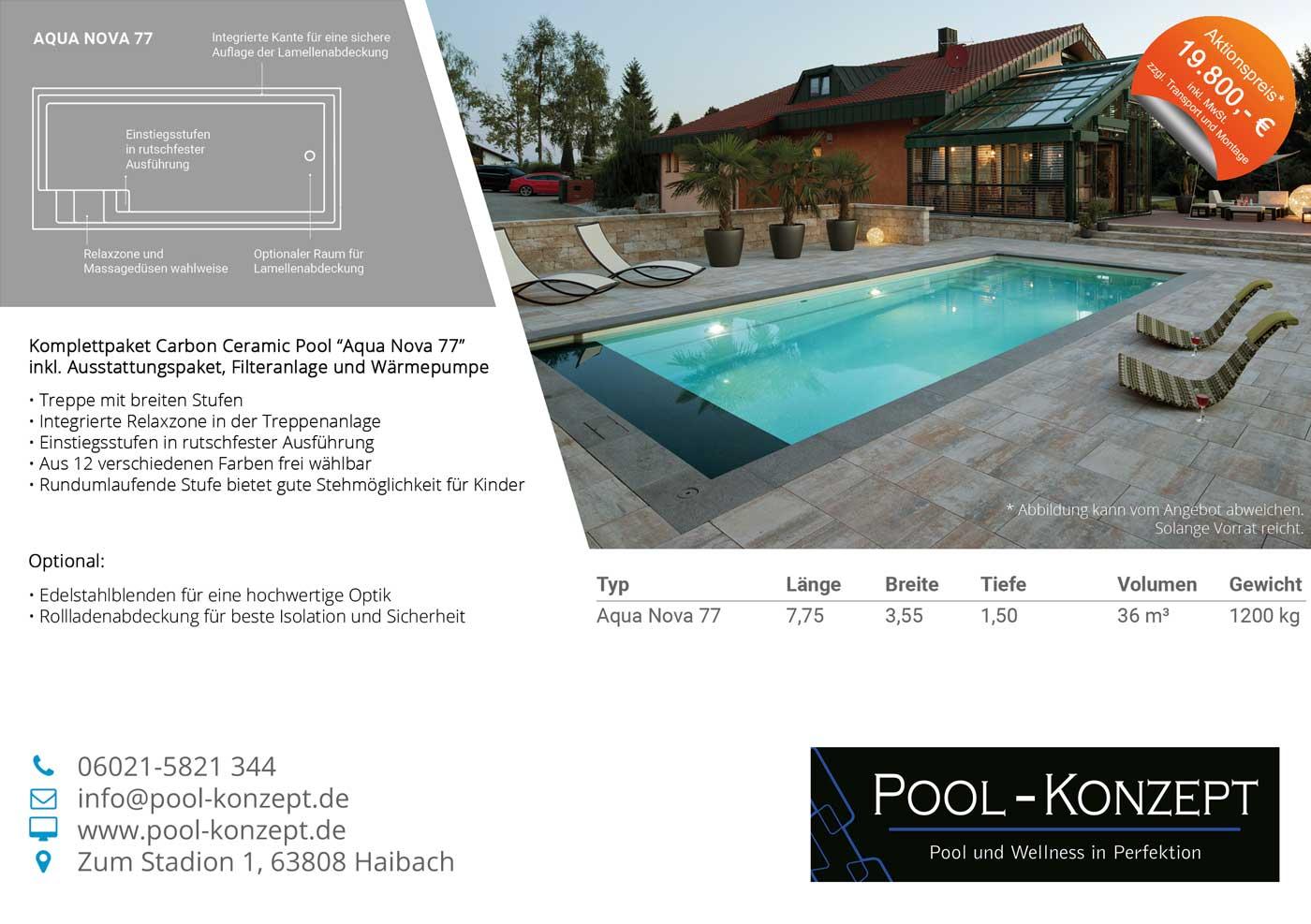 Pool Konzept nova77 aktion big pool konzept